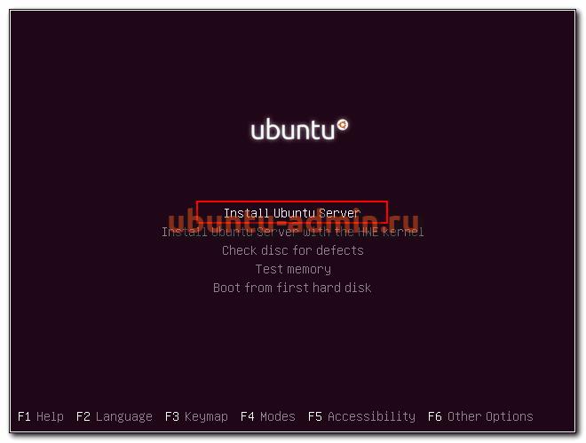 Установка ubuntu 18 server